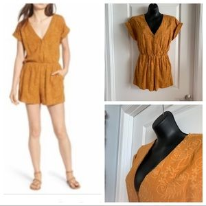 NWT Moon River Gold Romper Size M